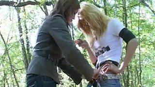 Two Young Sisters Sex For Money In The Wood