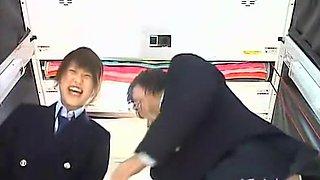 Cute Japanese teenagers getting schoolgirl upskirts spied PRCDV-014