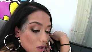 Perfect peach exposes enormous ass and gets anus bang11JNl