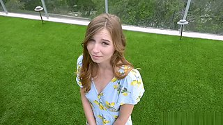 Petite teen Ava Parker gets her pussy licked and banged by neighbor