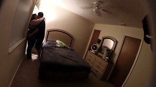 Fat amateur brunette gets pounded by her lover on hidden cam