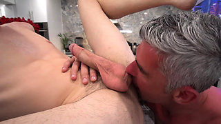 Hot Stepdad Fucks His Boy After A Wrestling Lesson