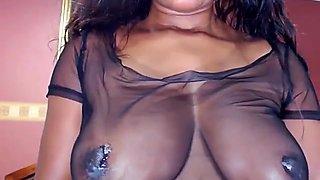 big nipples tits erect play milk fingers pussy p 2