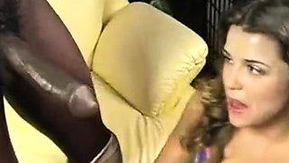 Interracial big cock blowjob and sex in the car