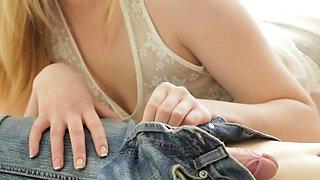 Sinful young russian redhead Milana Fox endures hard sex