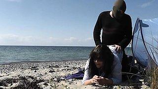 Creampie gangbangs on public beaches