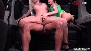 VIPSEXVAULT - Big Booty Jarushka Ross Make Her Drivers Dream Comes True In Hot Threesome