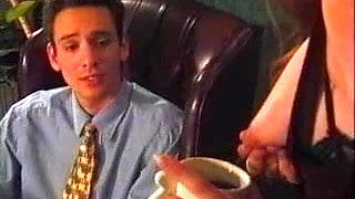 Boss receives Coffee with Breast Milk