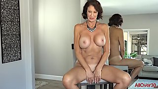 Hot Smoking Sexy Cougar Woman With Big Tits Vanessa Videl Teasing Naked in Her Home 1920x1080 4000k