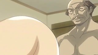 hentai beauty has to fuck old perv