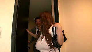 Crazy Japanese chick Hitomi Tanaka in Best JAV censored Bathroom, Big Tits movie